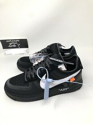 Nike Off White The Ten: Air Force 1 Low Black size 8 New DS A04606 001 Virgil | eBay