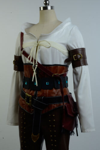 The Witcher 3 Wild Hunt Ciri Cirilla Fiona Elen Cosplay Costume Halloween Outfit