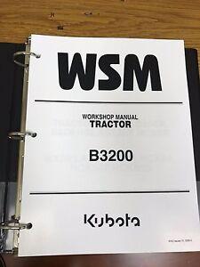 Remarkable Kubota B3200 Tractor Workshop Service Repair Manual Binder Ebay Wiring Digital Resources Operpmognl