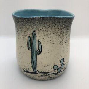 Loma Of Arizona Original Death Valley, Ca Desert Cactus Turquoise Hand Mug MCM