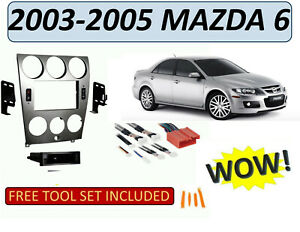 single or double din dash kit for 2003 2005 mazda 6 w. Black Bedroom Furniture Sets. Home Design Ideas