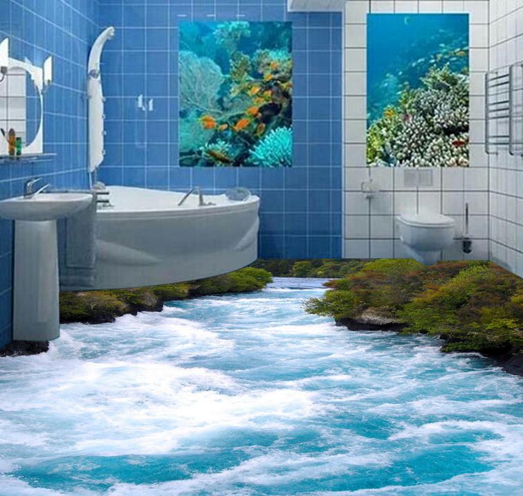 3D Fluss 414 Fototapeten Wandbild Fototapete Tapete Familie DE Lemon