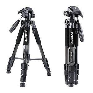 Q111-Black-Proessional-Aluminium-Tripod-amp-Pan-Head-for-Canon-Nikon-Sony-Camera