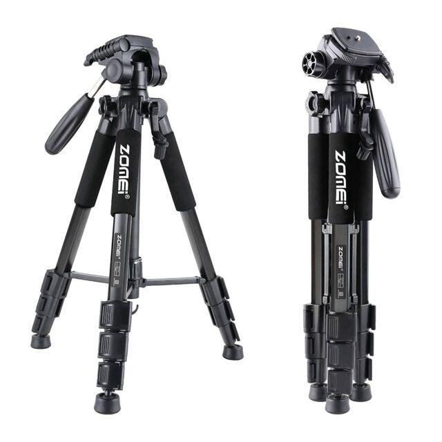 Q111 Black Proessional Aluminium Tripod&Pan Head for Canon Nikon Sony Camera