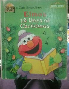 Sesame-Street-ELMO-039-S-12-DAYS-OF-CHRISTMAS-Little-Golden-Book-1996-G-C