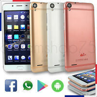 Smartphone 5.0 Téléphone Portable 4g Débloqué Android 5.1 Quad Core / Blanc