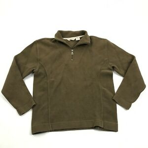 Tommy-Bahama-1-4-Zip-Polo-Sweater-Size-XS-Extra-Small-Adult-Long-Sleeve-Brown