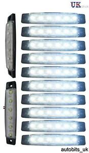 10x-24v-6smd-Led-Front-White-Clear-Side-Marker-Light-Lamp-Truck-Trailer-Lorry