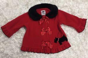 42fc08e43 Good Lad of Philadelphia 12 months girls red fleece jacket black ...