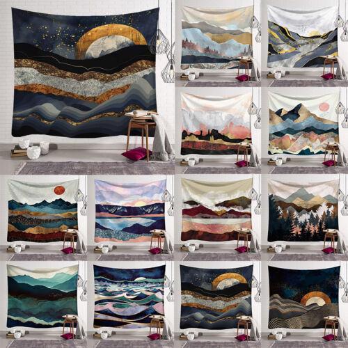 Sonnenaufgang Wandtuch Tapisserie Wandbehang Landschaft Wandteppich Strandtuch