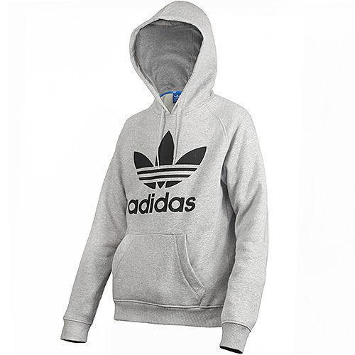 4ee03903265a adidas Originals Mens Trefoil Hoodie Sports Hoody Hooded Jumper Sweatshirt  Top Grey L for sale online