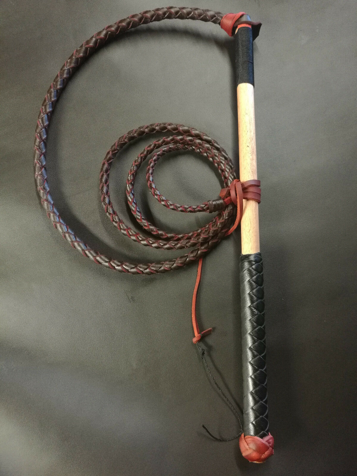 4ft rossoHide Stock Whip leather Stockwhip  gratuito cracker twine e gratuito post