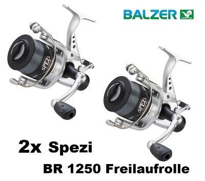 Balzer Spezi 100 BR 1250 Freilaufrolle mit Schnur Karpfenrolle Angelrolle