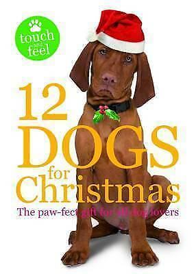 """VERY GOOD"" 12 Dogs for Christmas, Roger Priddy, Book"