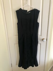 Women-039-s-Antonio-Marras-Black-Dress-Sz-50-L-made-in-Italy-BNWT-RRP-1985