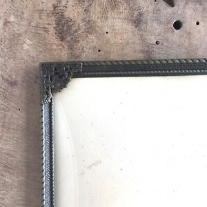 12x9-034-Frame-Photo-Picture-Convex-Glass-Danish-Brass-Brown-Gray-Farmhouse-Large