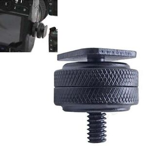 1-4-034-Dual-Nuts-Tripod-Mount-Screw-to-Flash-Digital-Camera-Hot-Shoe-Adapter-Tool