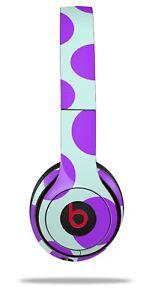 Details about Skin Beats Solo 2 3 Kearas Polka Dots Purple Blue Wireless  Headphones NOT INC