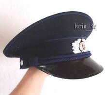 DDR Polizei Mütze Uniform - Schirmmütze 57 EAST GERMAN Railroad Police visor Hat