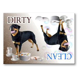 AKITA Clean Dirty DISHWASHER MAGNET Must See DOG