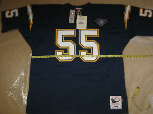 hot sale online 767a9 1ccba Details about AUTHENTIC MITCHELL & NESS Junior SEAU CHARGERS Home/Blue '94  Jersey-52/2XL $250