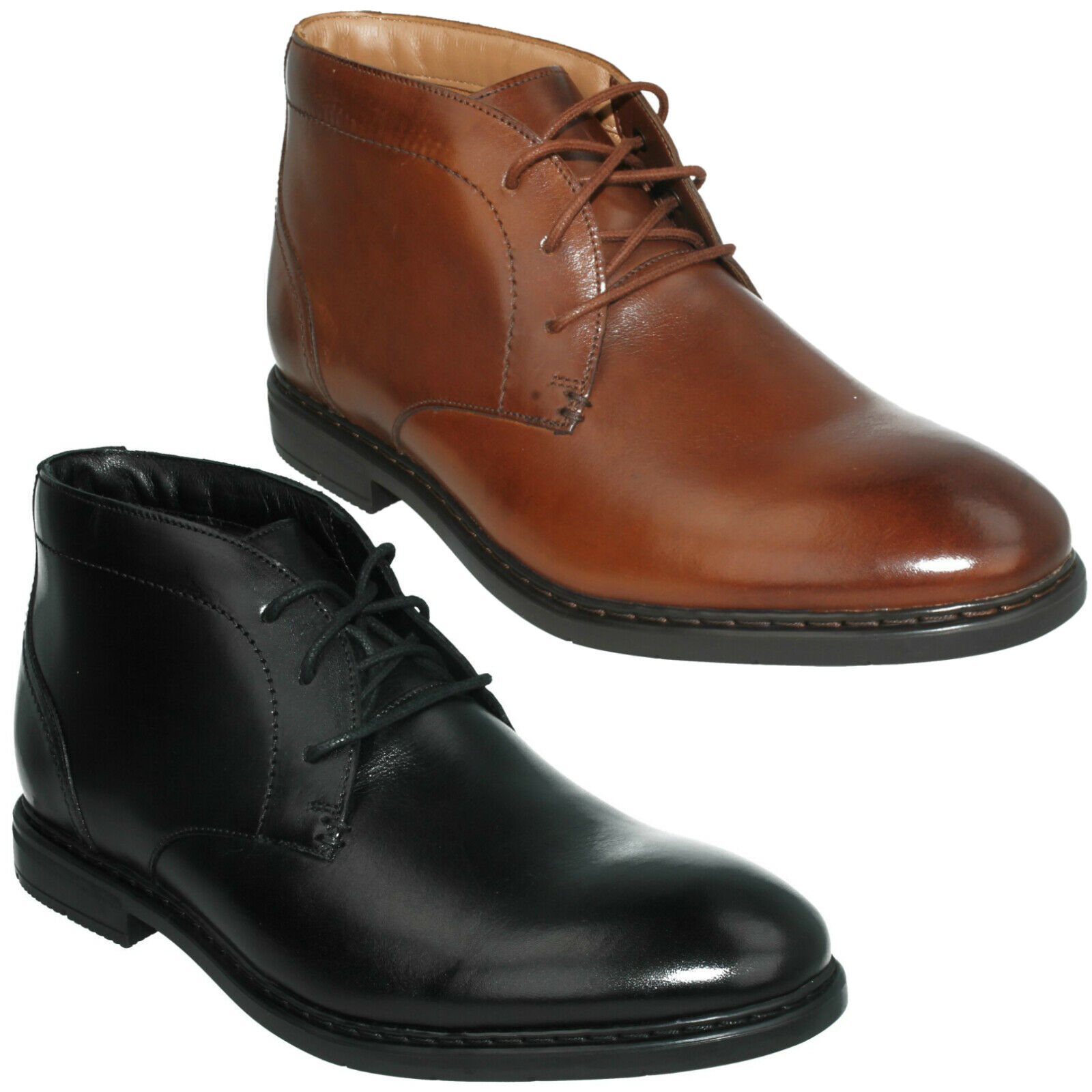MENS CLARKS BANBURY MID LACE UP SMART CASUAL DESERT ANKLE BOOTS FORMAL SIZE