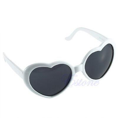 Retro Women Girl Summer Cute Glasses Heart Shape Sunglasses Eye Glasses 10 Color