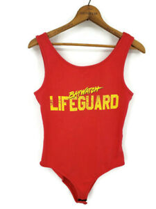 Baywatch Lifeguard Bodysuit Womens 8 One Piece Red Swimsuit Atmosphere