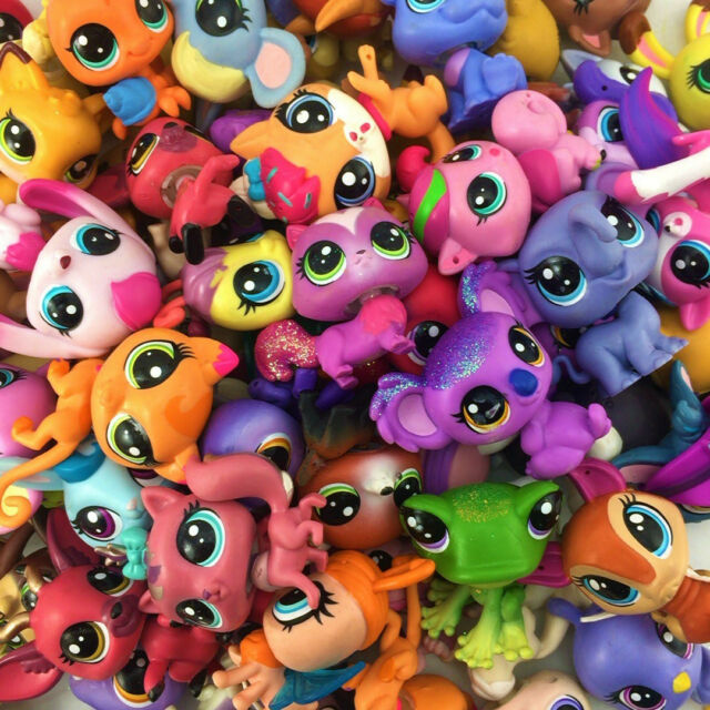 Random 15PCS LPS Littlest Pet Shop Animal Figure Baby Cute Doll Toy Xmas Gift