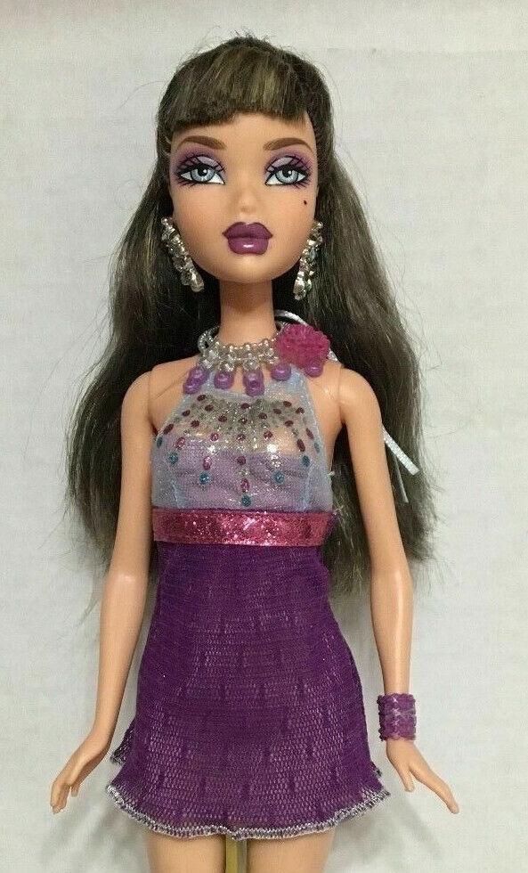 Barbie My Scene Delancey Muñeca resaltado Ultra Glam Pelo Raro