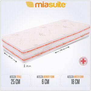 Prezzo Materasso Memory Singolo.Dettagli Su Materasso Memory Singolo Alto 25 Cm Con 6 Cm Memory Foam Dispositivo Medico