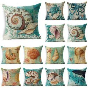 Retro-Sea-Animal-Cotton-Linen-Pillow-Case-Sofa-Cushion-Cover-Throw-Home-Decor