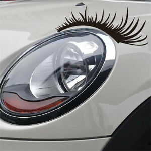 1-Pair-Car-Stickers-Decal-Funny-Eyelashes-Light-Eyebrow-Black-Car-Accessories-X