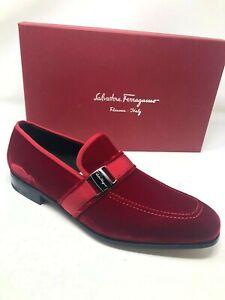 $695 New Salvatore Ferragamo Mens Red
