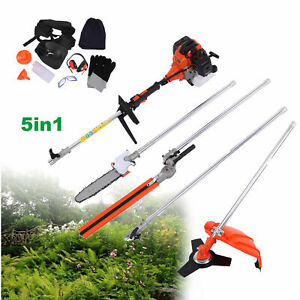 New High Quality Petrol Brush Cutter Grass Cutter 5 In1 With 52cc Petrol Engine Multi Brush Strimmer Hedge Trimmer Tree Cutter Tools Grass Trimmer
