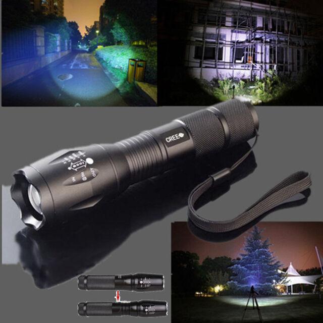 5000lm Adjustable Focus Zoom XML T6 LED Flashlight Torch Camping Light AAA 18650