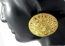 Earrings set Round Tops Gold Plated Beautiful Ethnic Indian Fashion Jewelry