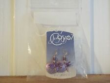 Jody Coyote Earrings new dragonfly purple STERLING SILVER