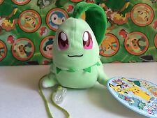 Pokemon Plush Laying Chikorita Shoulder Buddy 2000 Bean Bag stuffed doll figure