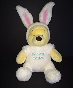 bf8a98e711c4 Winnie the Pooh My First Easter bear in White Bunny Rabbit costume ...