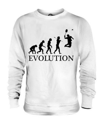 Badminton Evoluzione Umana Unisex Maglione  Herren Damenschuhe Idea Regalo Racchetta