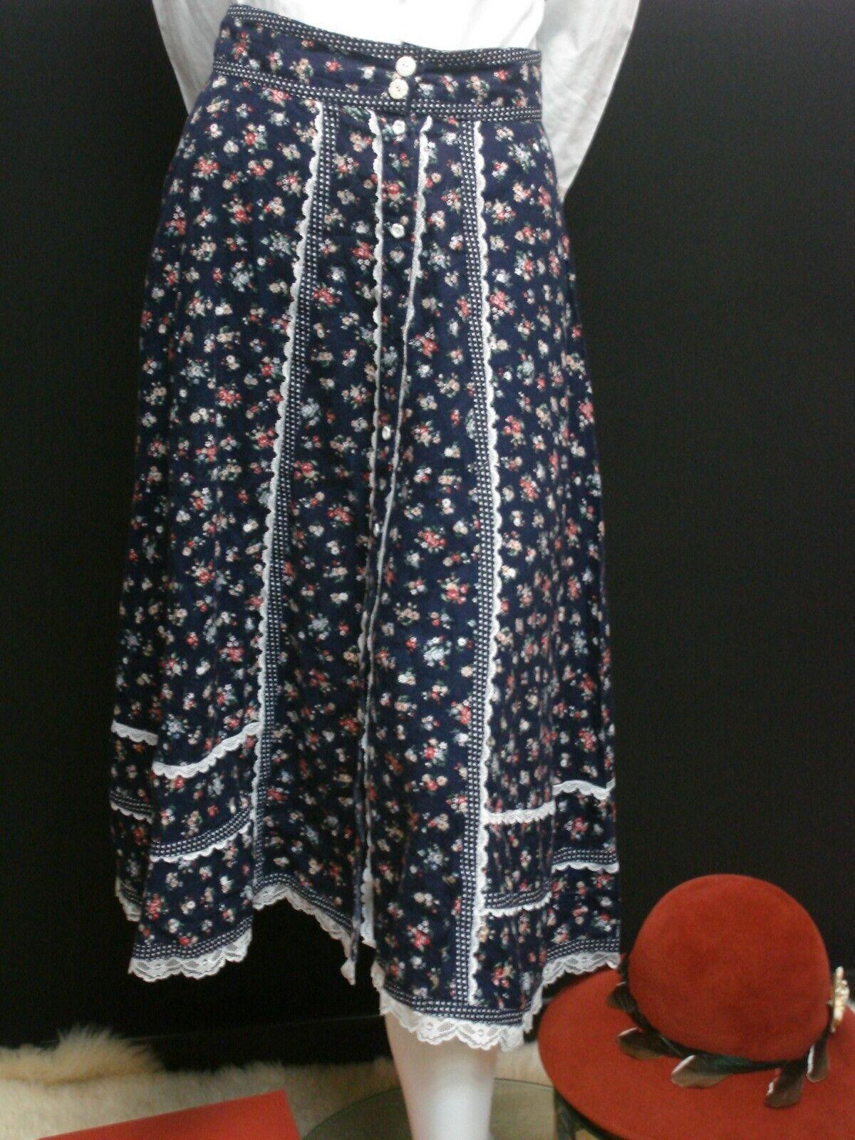👒Vintage Gunne Sax Jessica's Gunnies Blue Floral… - image 8