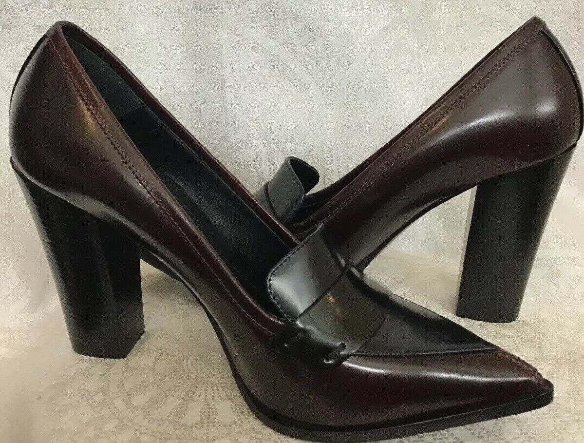 Nicholas Kirkwood Pump Brown And  Pointed Toe Thick Heel Size 40 1 2 New