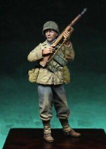1-35-Scale-Unpainted-Resin-Figure-Model-Kit-World-War-II-US-Soldier-1-Figure
