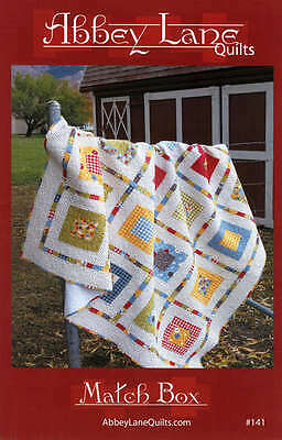 MATCH BOX QUILT PATTERN, Great To Use Your Scraps On From Abbey Lane Quilts NEW