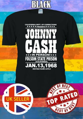 Johnny Cash In Person Folsom State Pri S-5XL Funny Men Women Unisex T-shirt 3023