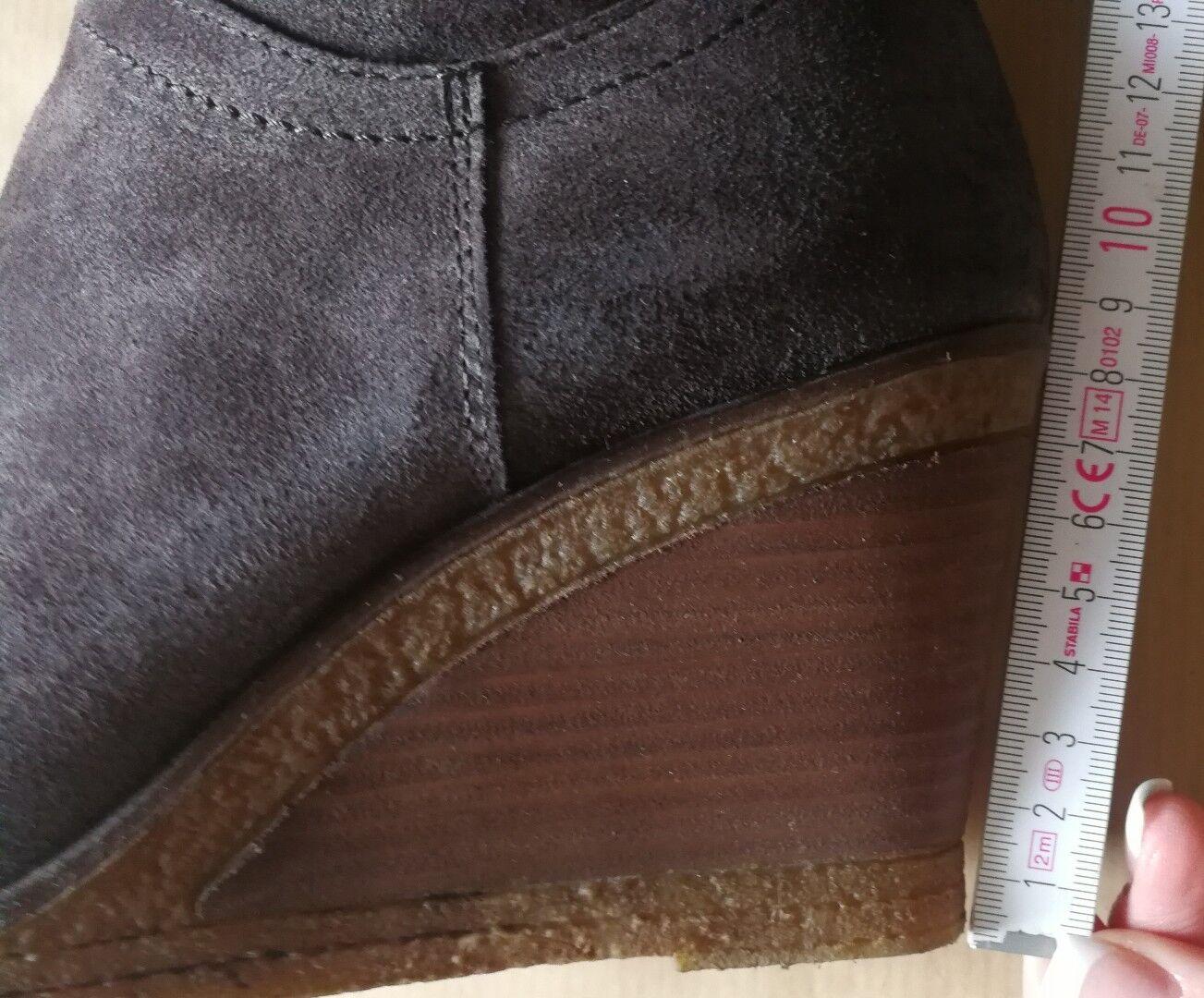 MJUS Stiefel Keilabsatz mit Keilabsatz Stiefel dunkelbraun Wildleder Gr.38 9dd732