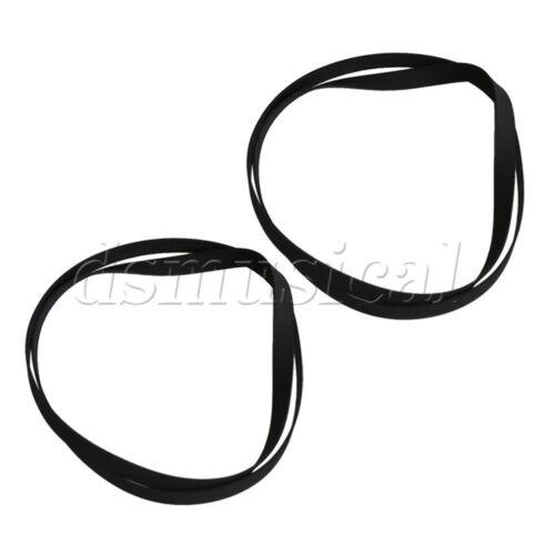 2PCS Flat Black Rubber Turntable Drive Belt for Phonograph 402x5mm