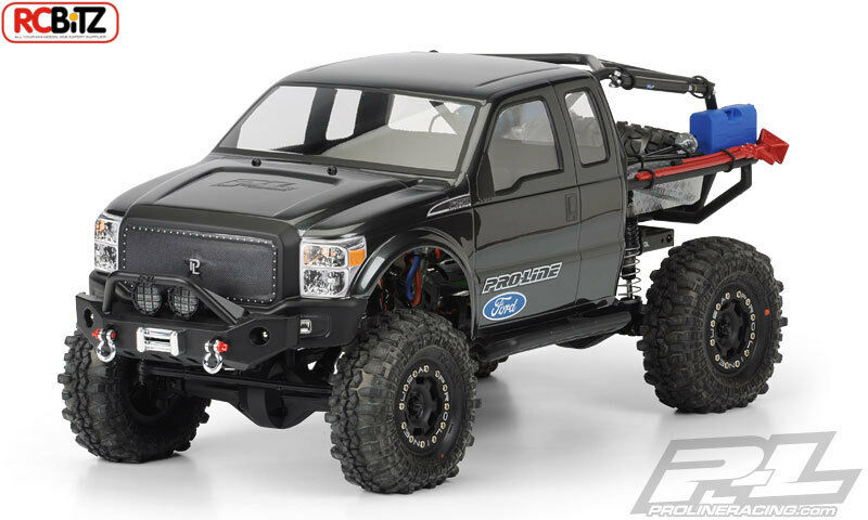 Ford F-250 Super Duty Cab Clear Body 3392 Axial SCX10 Honcho decal window masks