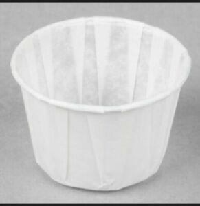 Genpak GNPF200 Paper Portion Cups 2 oz White 5000 Count
